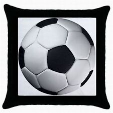 SET OF 2 SOCCER FOOT BALL PILLOW CUSHION CASE COVERS BEDROOM HOME DECOR LOUNGE
