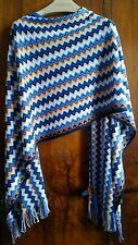 MISSONI Unica Zig Zag Wool blend SCARF WRAP Large 195cm-49cm
