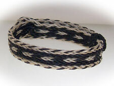 Braided Horse Hair Bracelet One Size Fits All Black/White WIDE