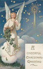 Wunderschöner Engel mit Füllhorn AK alt Weihnachten Christmas Noel Jul 1611126