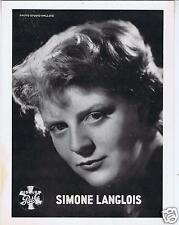 PHOTO SIMONE LANGLOIS DISQUES PATHE