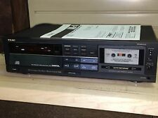 TEAC AD-4  CD Compact Disc Player Reverse Cassette Tape Deck Recorder Vintage