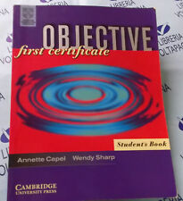OBJECTIVE FIRST CERTIFICATE STUDENT'S BOOK - A.CAPEL W.SHARP - CAMBRIDGE