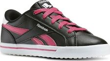 Reebok Royal Comp 2L Girls UK 12 EU 30 Black Rose White Lace Sneaker Trainers