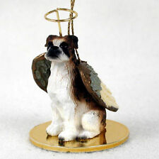 Boxer Dog Figurine Angel Statue Hand Painted Brindle Uncropped