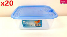 20pcs HOT POT Plastic Fresh Keeping Box 680ml w/ Lid Container Microwave 3712