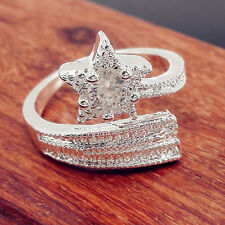 Hot Sale Gift Five-Pointed Star Plate with Silver Opening Ring Silvery Bling JYL