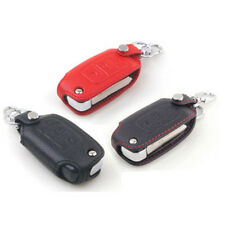 New Black Color PU Leather Key fob Holder Case Chain Cover For VW Series