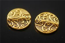 30pcs Antique Golden Beads Loose Spacer Jewelry Crafts Charms Findings 13mm