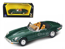 1971 JAGUAR E TYPE CONVERTIBLE GREEN 1/43 MODEL BY ROAD SIGNATURE 94244