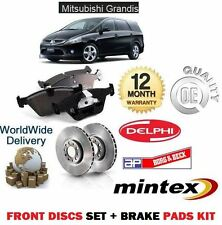 FOR MITSUBISHI GRANDIS 2.0DT DiD 2005-   FRONT BRAKE DISCS VENTED KIT + PADS SET