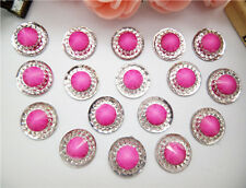 Hot 20PCS 12MM Crack Round Flat back Scrapbooking for DIY craft/Wedding Art BR14