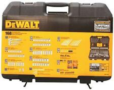 "NEW DEWALT DWMT73803 168 PIECE 1/4"" & 3/8"" DRIVE SOCKET TOOL SET & CASE 7515026"