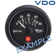 """VDO Viewline Engine Oil Pressure Gauge 52mm 2"""" 5bar Black 12/24V A2C60001024"""