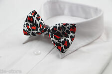 MENS LEOPARD PRINT PATTERN BOW TIE SILK PRE-TIED MEN BOWTIE WEDDING FORMAL TIES