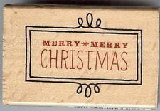 Janet Dunn Studio g MERRY MERRY CHRISTMAS Wood Mounted Stamp 1084380
