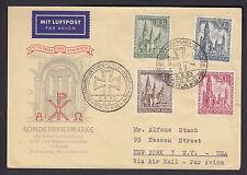 Berlin Gedächtniskirche 1953 Ersttagsbrief Luftpost Beleg (S13107)