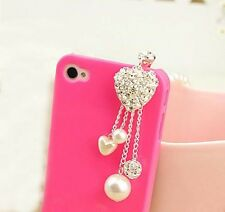 1pc New Pearl  Anti Dust Earphone Plug Cover Stopper Cap For Phone