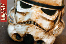 star wars black series stormtrooper helmet 1:1 custom paint sand trooper rogue