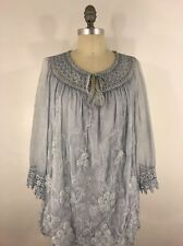 LIST & BEDROG ANTHROPOLOGIE EMBROIDER SILK TUNIC ITALIAN MADE SIZE S M L XL NWT
