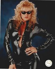 SABLE 8X10 PHOTO WRESTLING PICTURE WWF BLACK LEATHER SEXY