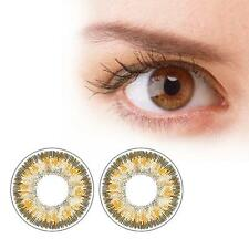 1 Pair Contact Lenses Color Soft Big Eye UV Protection Cosmetic Lens Brown AC
