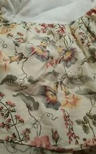 Laura Ashley Melrose Twin Bedskirt Morning Glory Rose Pinks  Blue