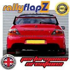 rallyflapZ MITSUBISHI EVO 9 (05-07) Mud Flaps Black Ralliart Logo Red 3mm PVC