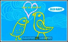 OLD NAVY LOVE YELLOW BIRDS SINGING CHRISTMAS CAROL COLLECTIBLE GIFT CARD