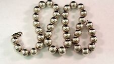 "925 Sterling Silver 18"" Beaded Ball Necklace 12mm/.47"" Beads Lobster Claw Clasp"