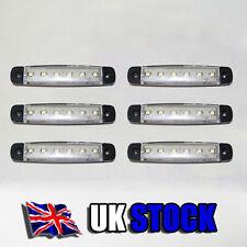 6x24V LED blanca Lateral Transparente Luces De Marcaje Posición Para Volvo