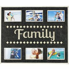 HUGE FELT SIX PHOTO PICTURE FRAME COLLAGE FAMILY SENTIMENT MEMORIES GIFT NEW