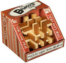 *NEW IN BOX* Bamboozlers Wooden 3D Bamboo Puzzle Ball Puzzleball  LOG PILE