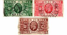 3 GEORGE V 5th SILVER JUBILEE STAMPS 1935 GREAT 80th BIRTHDAY PRESENT CARD