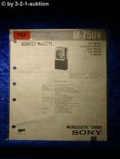Sony Service Manual M 750V Microcassette Corder (#0762)