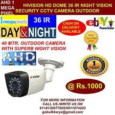 HiVision CCTV 1 MP HD CCTV Camera with 40 Mtr. Night Vision Bullet (Outdoor)