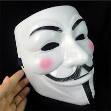Movie Themes V Shape Anonymous Mask Costume Halloween Party Props Decor AU