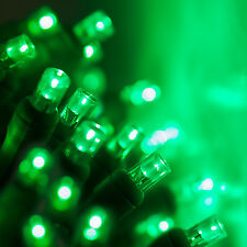 100 count 5 mm LED Christmas Light String Green Color