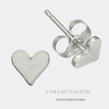 Authentic Dogeared Sterling Silver Flat Heart Stud earrings 3SSSZ00101898