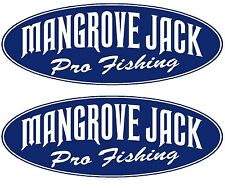 "2x MANGROVE JACK BOAT NAMES - ""MANGROVE JACK Pro Fishing"" Decal Sticker Graphics"