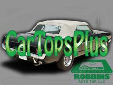 1964-1966 Mustang Convertible Top & Plastic Window, White Vinyl