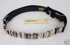 """Diesel BALOOPI Leather Belt Blac Size 85 (34"""") Made in Italy $238"""