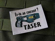 Snake Patch - HUMOUR POLICE - TASER es-tu au courant ? ECUSSON SCRATCH FUN GN
