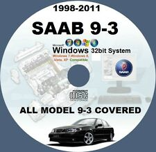 SAAB 9-3 1998-TO-2011 WIS ALL MODELS MASTER WORKSHOP SERVICE MANUAL SYSTEM CD
