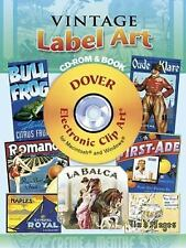 Vintage Label Art CD-ROM and Book (Full-Color Electronic Design Series), Clip Ar