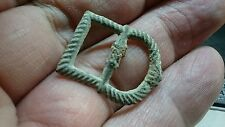 Lovely Post medieval bronze buckle 1600s to 1700s L160