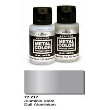 Vallejo Paints Metal Color VLJ-77717 Dull Aluminum Metal Color 32ml Bottle