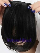 clip in on bangs fringes Hair Extensions black brown for lady women favored lts