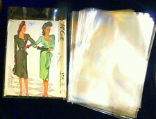 """50 CELLO Protective SEWING PATTERN SLEEVES 6 1/2"""" x 9 1/2""""ACID FREE"""