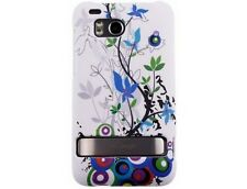 Rubberized Plastic Protector Spring Flower Phone Cover Case for HTC Thunderbolt